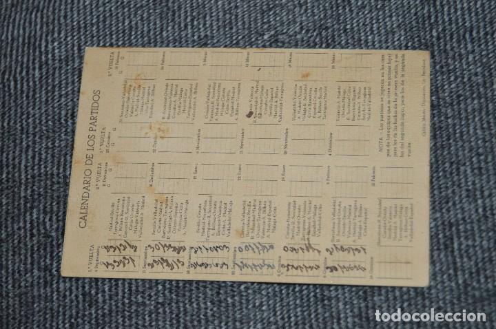 Coleccionismo deportivo: LOTE DE 2 ANTIGUOS CALENDARIOS DE FÚTBOL - AÑOS 40 Y 50 - MÁLAGA / CEREGUMIL - VINTAGE - HAZ OFERTA - Foto 3 - 117579543