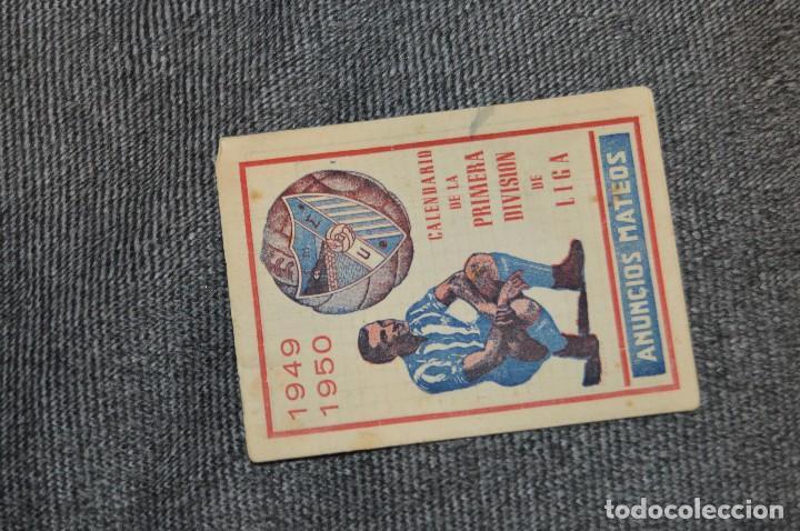 Coleccionismo deportivo: LOTE DE 2 ANTIGUOS CALENDARIOS DE FÚTBOL - AÑOS 40 Y 50 - MÁLAGA / CEREGUMIL - VINTAGE - HAZ OFERTA - Foto 6 - 117579543