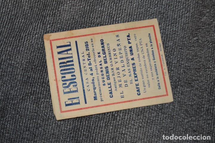 Coleccionismo deportivo: LOTE DE 2 ANTIGUOS CALENDARIOS DE FÚTBOL - AÑOS 40 Y 50 - MÁLAGA / CEREGUMIL - VINTAGE - HAZ OFERTA - Foto 7 - 117579543