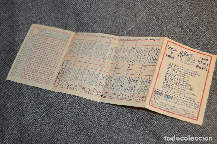 Coleccionismo deportivo: LOTE DE 2 ANTIGUOS CALENDARIOS DE FÚTBOL - AÑOS 40 Y 50 - MÁLAGA / CEREGUMIL - VINTAGE - HAZ OFERTA - Foto 8 - 117579543
