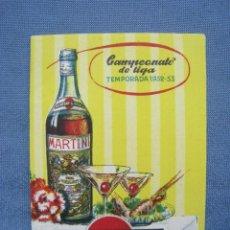 Coleccionismo deportivo: CALENDARIO LIGA 1ª DIVISION 1952-1953 52-53. MARTINI. Lote 118017503