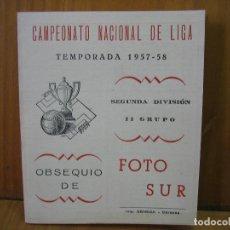 Coleccionismo deportivo: ANTIGUO CALENDARIO CAMPEONATO NACIONAL DE LIGA DE FÚTBOL. TEMPORADA 1957-58 SEGUNDA DIVICION CORDOBA. Lote 118302995