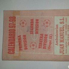 Coleccionismo deportivo: CALENDARIO DE FUTBOL 97-98. Lote 118694990