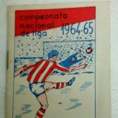 Coleccionismo deportivo: MINI CALENDARIO NACIONAL LIGA 1964-65.. Lote 118744295