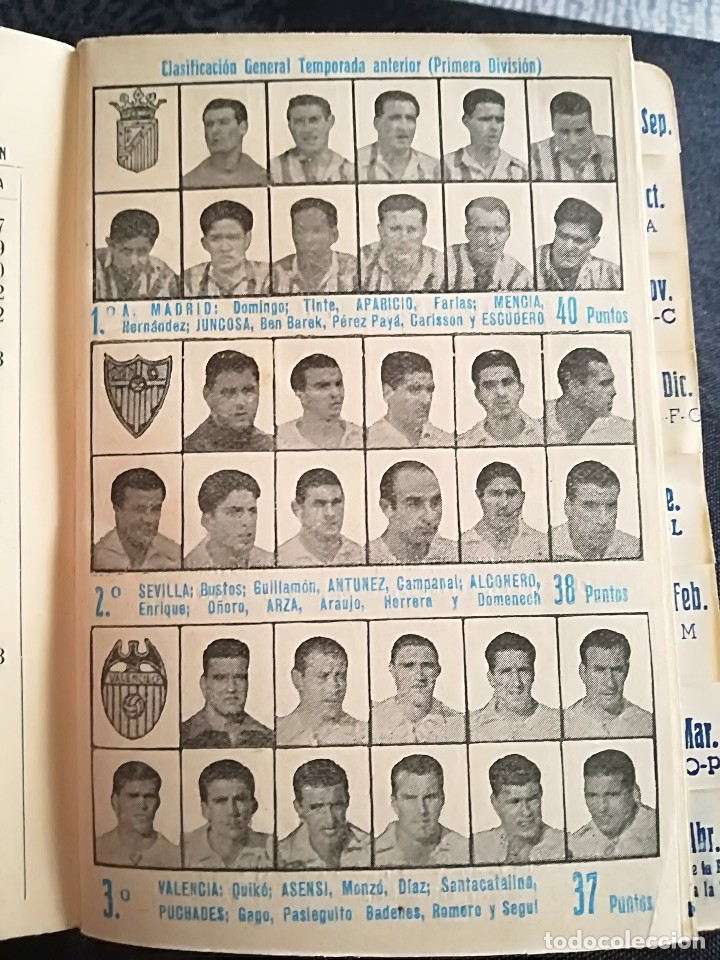 Coleccionismo deportivo: CALENDARIO FUTBOL ANTIGUO 1951-52 - Foto 4 - 114747439