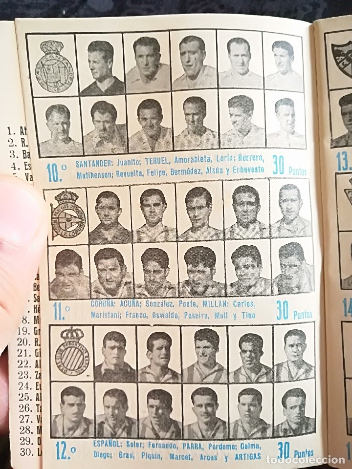 Coleccionismo deportivo: CALENDARIO FUTBOL ANTIGUO 1951-52 - Foto 7 - 114747439