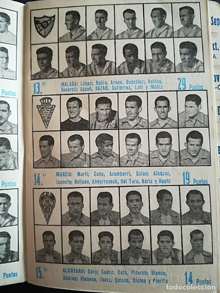Coleccionismo deportivo: CALENDARIO FUTBOL ANTIGUO 1951-52 - Foto 8 - 114747439