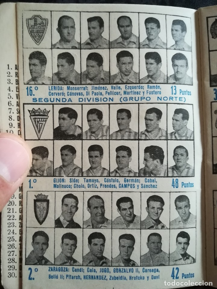 Coleccionismo deportivo: CALENDARIO FUTBOL ANTIGUO 1951-52 - Foto 10 - 114747439