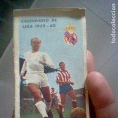 Coleccionismo deportivo: CALENDARIO LIGA FUTBOL ESPAÑA PUBLICIDAD BODEGAS RAMIREZ 1959 1960 . Lote 119100235