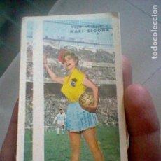Coleccionismo deportivo: CALENDARIO TRIPTICO LIGA FUTBOL ESPAÑA PUBLICIDAD OASIS REST EMBAJADORES MADRID 1961 62 . Lote 119100451