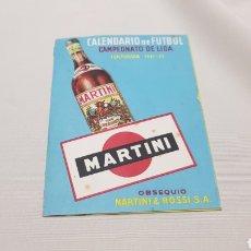 Coleccionismo deportivo: BONITO CALENDARIO DE LIGA DE FUTBOL 1951 - 52 PUBLICIDAD MARTINI. Lote 120603287
