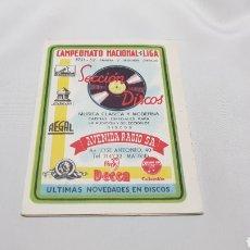 Coleccionismo deportivo: CALENDARIO NACIONAL LIGA DE FUTBOL 1951 - 52 PUBLICIDAD DE AVENIDA RADIO S.A. MADRID . RARO. Lote 120606504