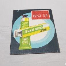 Coleccionismo deportivo: MUY CURIOSO Y UNICO CALENDARIO CAMPEONATO NACIONAL DE LIGA FUTBOL 1953 - 54 CREMA DE AFEITAR JEEP. Lote 120613115