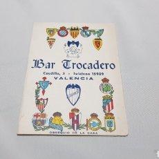 Coleccionismo deportivo: CALENDARIO CAMPEONATO NACIONAL DE LIGA FUTBOL 1A DIVISION FUTBOL 1953 - 54 . BAR TROCADERO. VALENCIA. Lote 120696426