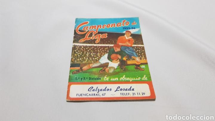 Coleccionismo deportivo: Calemdario campeonato nacional de liga 1955 - 56 . Calzados losada - Foto 2 - 120697002