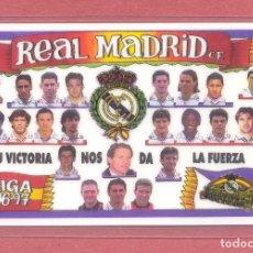 Coleccionismo deportivo: CALENDARIO DE BOLSILLO PLASTIFICADO REAL MADRID 1997, LIGA 96-97,NUEVO, VER FOTOS. Lote 122257663