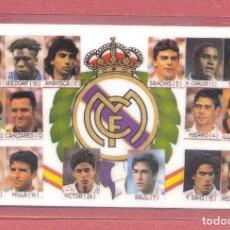 Coleccionismo deportivo: CALENDARIO DE BOLSILLO PLASTIFICADO REAL MADRID 1997,NUEVO, VER FOTOS. Lote 122257783