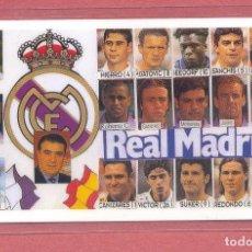 Coleccionismo deportivo: CALENDARIO DE BOLSILLO PLASTIFICADO REAL MADRID 1998,NUEVO, VER FOTOS. Lote 122257947
