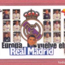 Coleccionismo deportivo: CALENDARIO DE BOLSILLO PLASTIFICADO REAL MADRID 1999,NUEVO, VER FOTOS. Lote 122258067