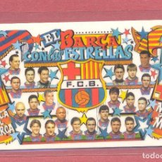 Coleccionismo deportivo: CALENDARIO DE BOLSILLO PLASTIFICADO F.C.BARCELONA 1998,NUEVO, VER FOTOS. Lote 122258523