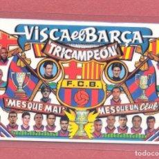 Coleccionismo deportivo: CALENDARIO DE BOLSILLO PLASTIFICADO F.C.BARCELONA 1999,NUEVO, VER FOTOS. Lote 122258639