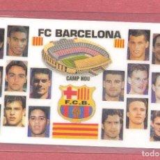 Coleccionismo deportivo: CALENDARIO DE BOLSILLO PLASTIFICADO F.C.BARCELONA 2000,NUEVO, VER FOTOS. Lote 122258775