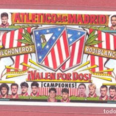 Coleccionismo deportivo: CALENDARIO DE BOLSILLO PLASTIFICADO ATLETICO DE MADRID 1997,NUEVO, VER FOTOS. Lote 122259027
