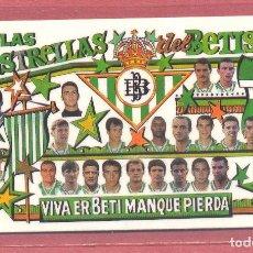 Coleccionismo deportivo: CALENDARIO DE BOLSILLO PLASTIFICADO REAL BETIS 1998,NUEVO, VER FOTOS. Lote 122259367