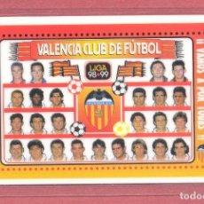 Coleccionismo deportivo: CALENDARIO DE BOLSILLO PLASTIFICADO , VALENCIA C.F. 1999, LIGA 98-99, NUEVO, VER FOTOS. Lote 122259655