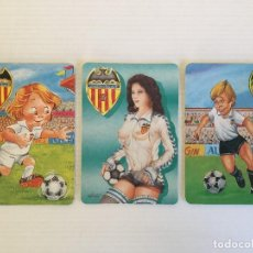 Coleccionismo deportivo: LOTE 3 CALENDARIOS DE BOLSILLO DEL VALENCIA CF – 1997 – 1998 - 1999. Lote 122687579