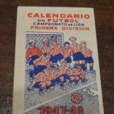 Coleccionismo deportivo - CALENDARIO FUTBOL CAMPEONATO LIGA 1°DIVISIÓN 1947-48- OBSEQUIO MARTINI & ROSSI. - 122828115