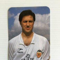 Coleccionismo deportivo: CALENDARIO DE BOLSILLO DEL JUGADOR COTINO DEL VALENCIA CF - 1990. Lote 122976579