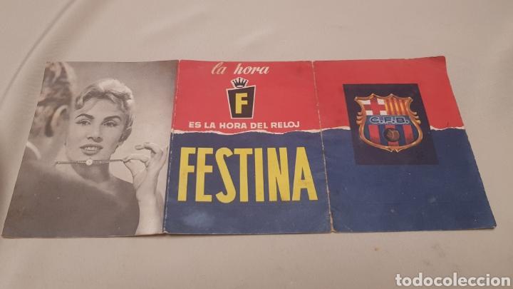 Coleccionismo deportivo: Calendario de liga c.f.Barcelona 1957-1958 de primera division - Foto 8 - 124551899