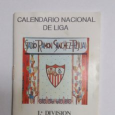 Coleccionismo deportivo: CALENDARIO NACIONAL DE LIGA 1992-93 SEVILLA CF. Lote 124611187