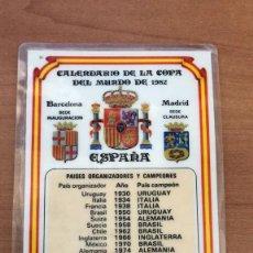 Coleccionismo deportivo: CALENDARIO DE BOLSILLO AÑO 1982 - COPA DEL MUNDO DE 1982- FÚTBOL. Lote 125379803