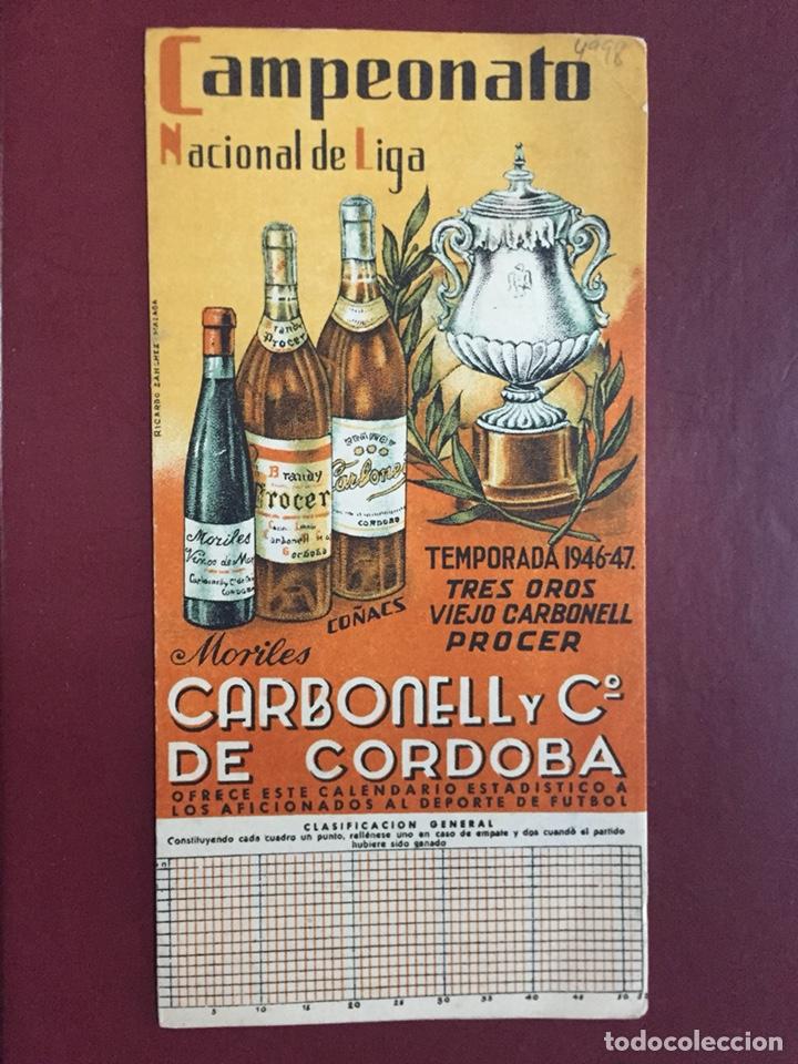 CALENDARIO LIGA FÚTBOL 1946/47 (Coleccionismo Deportivo - Documentos de Deportes - Calendarios)