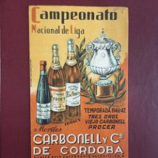 Coleccionismo deportivo: CALENDARIO LIGA FÚTBOL 1946/47. Lote 125975578