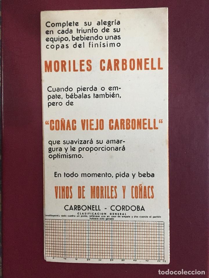 Coleccionismo deportivo: Calendario liga fútbol 1946/47 - Foto 2 - 125975578