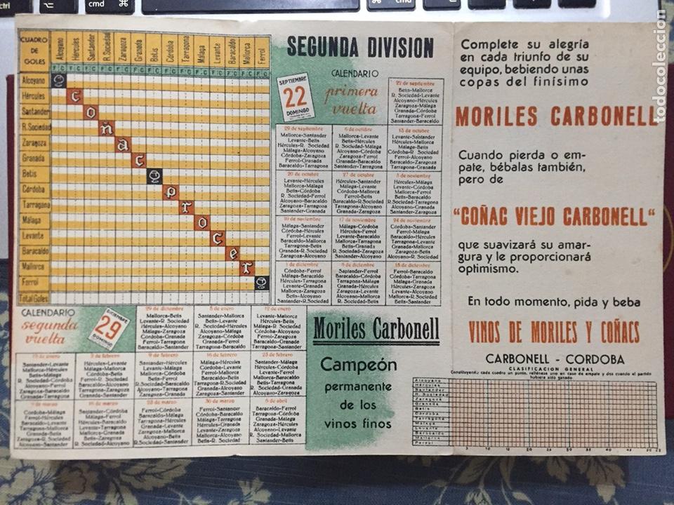 Coleccionismo deportivo: Calendario liga fútbol 1946/47 - Foto 3 - 125975578
