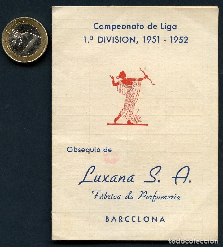 FÚTBOL, CALENDARIO, CAMPEONATO DE LIGA, TEMPORADA 1951 / 1952 (Coleccionismo Deportivo - Documentos de Deportes - Calendarios)