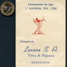 Sports collectibles - FÚTBOL, CALENDARIO, CAMPEONATO DE LIGA, TEMPORADA 1951 / 1952 - 126698927