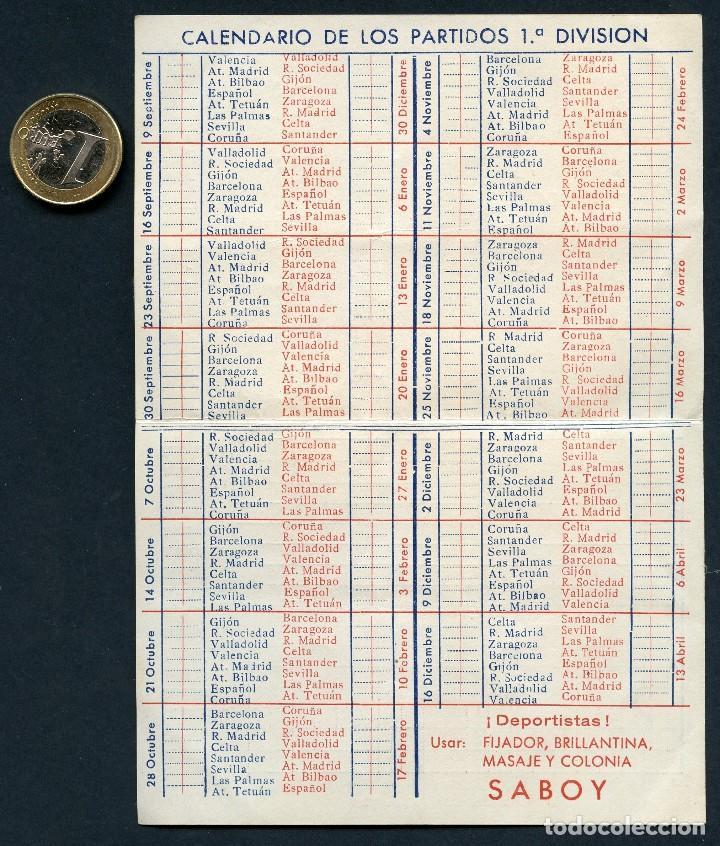 Coleccionismo deportivo: FÚTBOL, CALENDARIO, CAMPEONATO DE LIGA, TEMPORADA 1951 / 1952 - Foto 2 - 126698927