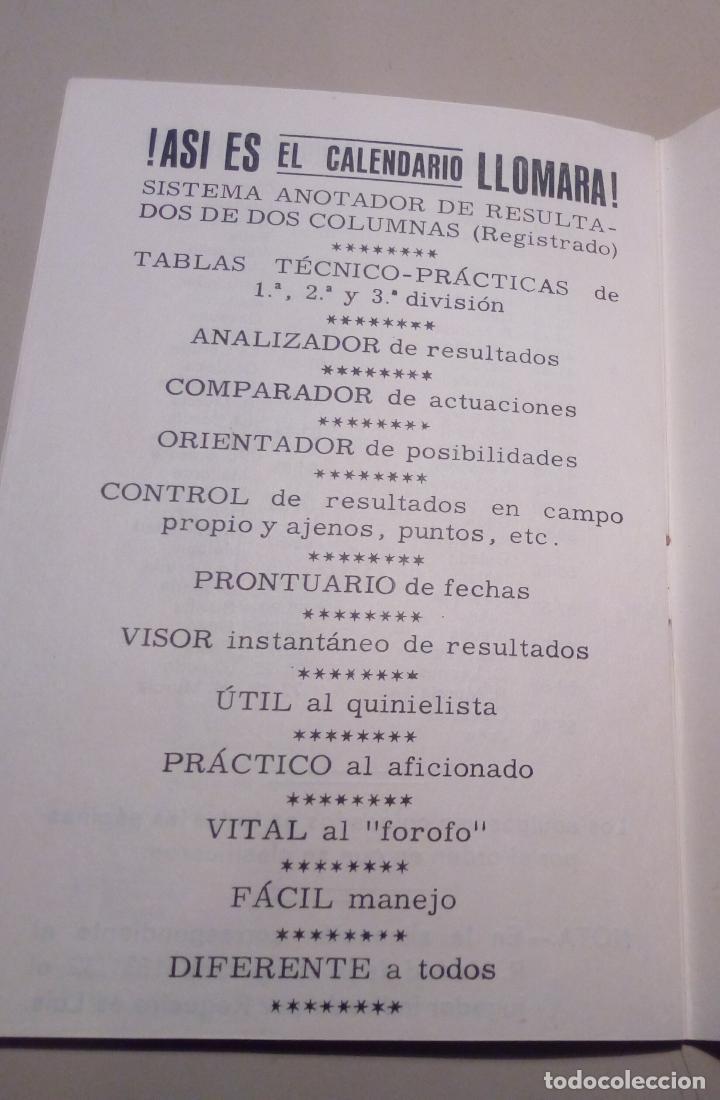 Coleccionismo deportivo: FUTBOL - CAMPEONES DE LIGA DESDE 1928 - CALENDARIO LLOMARA - HISTORIA DE LA LIGA - RESULTADOS-1973 - Foto 4 - 127192263