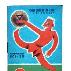 Coleccionismo deportivo: CALENDARIO DE LIGA TEMPORADA 1959 1960 FÚTBOL DE PRIMERA DIVISÓN. VERMUT MARTINI & ROSSI. Lote 127633903