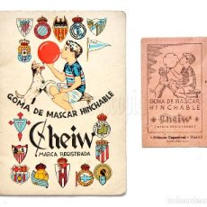 Coleccionismo deportivo: CALENDARIO DE LIGA TEMPORADA AÑOS 50 FÚTBOL DE PRIMERA DIVISÓN. CHICLE GOMA MASCAR CHEIW. Lote 127634547
