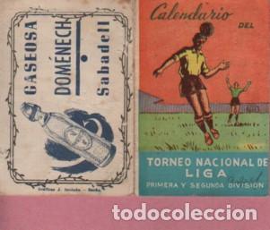 CALENDARIO TORNEO NACIONAL LIGA FUTBOL PUBLICIDAD GASEOSA DOMÉNECH SABADELL - DESPLEGABLE 8 PAGINAS (Coleccionismo Deportivo - Documentos de Deportes - Calendarios)