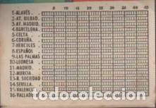 Coleccionismo deportivo: calendario torneo nacional liga futbol publicidad gaseosa doménech sabadell - desplegable 8 paginas - Foto 2 - 128255867