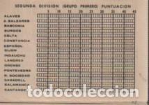 Coleccionismo deportivo: calendario torneo nacional liga futbol publicidad josé gómez plasticos morell sabadell - montserrat, - Foto 2 - 128278787