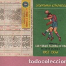 Coleccionismo deportivo: CALENDARIO TORNEO NACIONAL LIGA FUTBOL PUBLICIDAD INDUTR. GRAFICAS FRANCISCO CASAMAJÓ - 1955 - 56. Lote 128279375