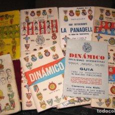 Coleccionismo deportivo: LOTE 10 CALENDARIO DEPORTIVO DINAMICO . GUIA CLASIFICACION AÑOS 50 / 60 VER DESCRIPCION FUTBOL. Lote 128766171